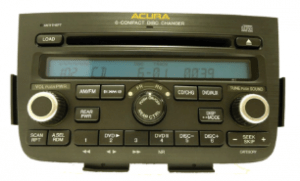 acura mdx radio cd changer 2005to2006 transparent