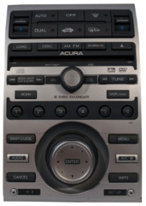 acura rl radio cd changer 2009to20012 transparent