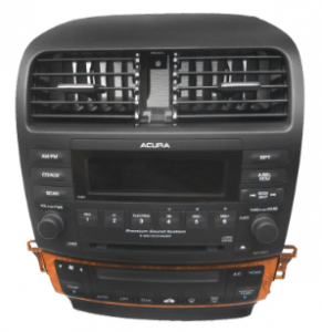acura tsx radio cd player 2003to2008 transparent