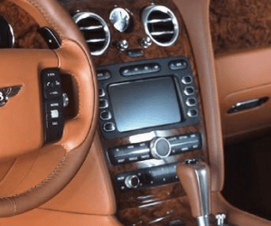 Bentley Continental Navigation Screen