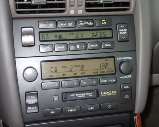 lexus-GS300-GS340-radio-cassette-1998to2001