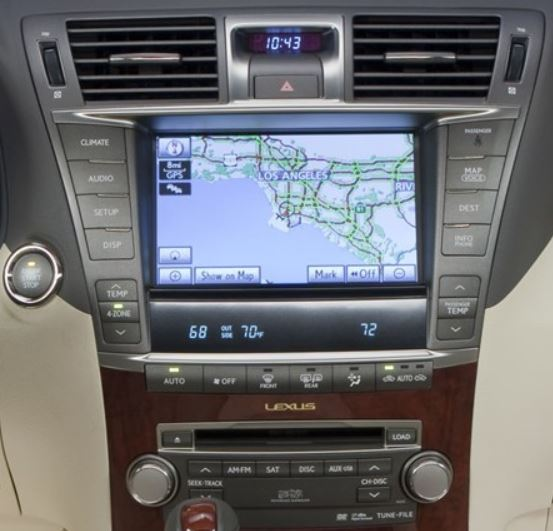 lexus-ls460-navigation-cassette-cd-changer-2007and2009