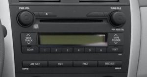 toyota corolla radio 6 cd changer 2009to2011