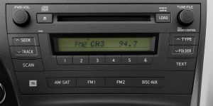 toyota prius jbl radio cd player 2010to2011