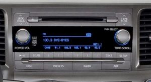 toyota sienna non jbl cd player 2011to2014