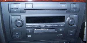 audi radio cassette
